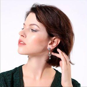 Star and moon drop piercing Earrings